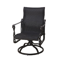 Grand Terrace Woven Standard Back Swivel Rocker