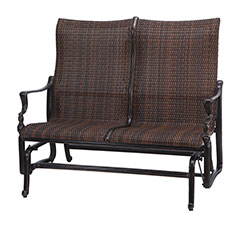 Bel Air Woven High Back Loveseat Glider