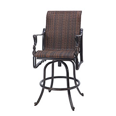 Bel Air Woven Swivel Bar Stool