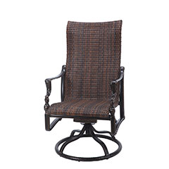 Bel Air Woven High Back Swivel Rocker