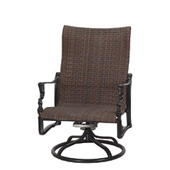 Bel Air Woven High Back Swivel Rocking Lounge Chair
