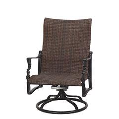 Bel Air Woven High Back Swivel Rocking Lounge Chair