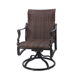 Bel Air Woven Standard Back Swivel Rocker