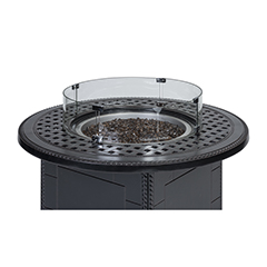 Round Fire Pit Top Wind Screen