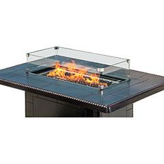 Rectangular Fire Pit Top Wind Screen