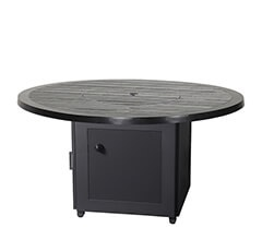 "Channel 53"" Round Gas Fire Pit with Modanō Base"