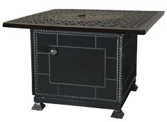 """Florence 42"""" Square Gas Fire Pit with Paradise Base"""