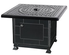 """Grand Terrace 36"""" Square Gas Fire Pit with Paradise Base"""
