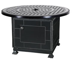 """Grand Terrace 42"""" Round Gas Fire Pit with Paradise Base"""