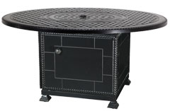 """Grand Terrace 54"""" Round Gas Fire Pit with Paradise Base"""