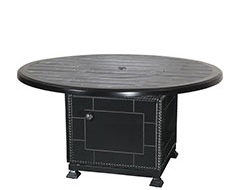 """Lattice 53"""" Round Gas Fire Pit with Paradise Base"""