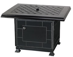 """Madrid II 42"""" Square Gas Fire Pit"""