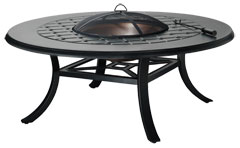 """Madrid II 54"""" Round Chat Height Wood Fire Pit"""