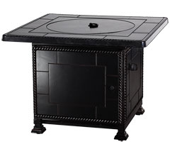 """Paradise 36"""" Square Gas Fire Pit with Paradise Base"""