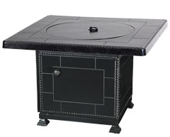 """Paradise 42"""" Square Gas Fire Pit with Paradise Base"""