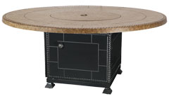"""Paradise 54"""" Round Gas Fire Pit with Paradise Base"""