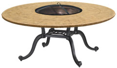 "Paradise 54"" Round Chat Height Wood Firepit"