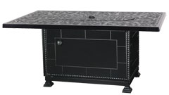 """Regal 38""""X 56"""" Rectangular Gas Fire Pit with Paradise Base"""