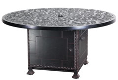 """Regal 54"""" Round Gas Fire Pit with Paradise Base"""