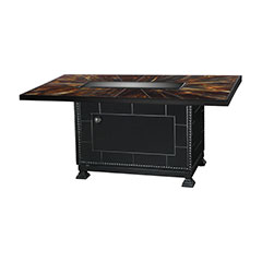 """38""""X 56"""" Rectangular Stained Glass Gas Fire Pit"""