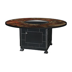 """54"""" Round Stained Glass Gas Fire Pit"""