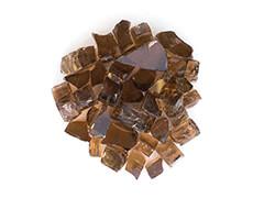 Tempered Fire Glass - Bronze
