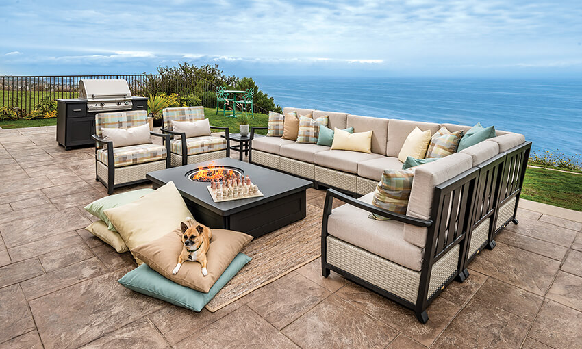 Pillow Height Gas Fire Pits