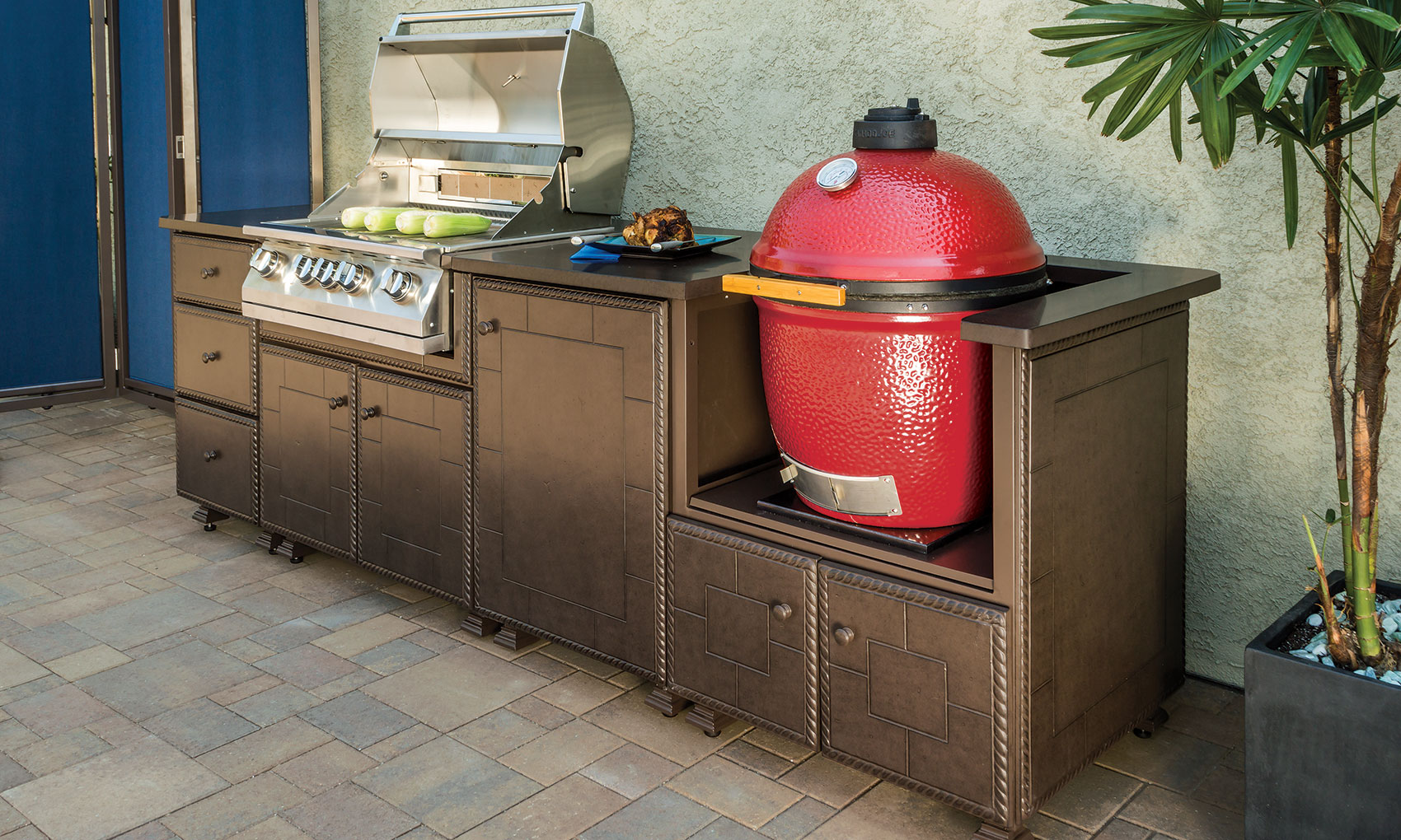 Outdoor Kitchens > Kitchen Islands > Gas & Kamado Grill