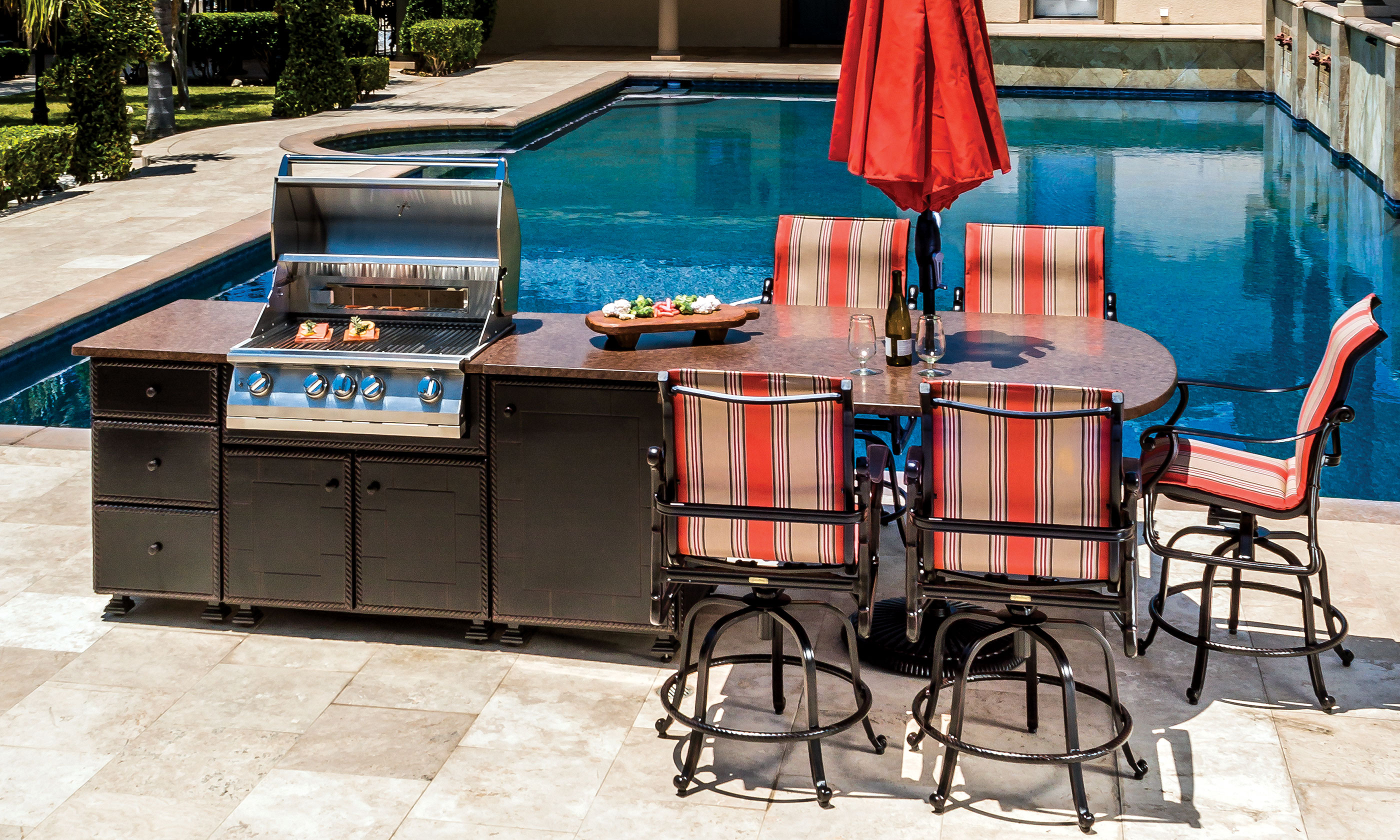 Kitchen Island Grill outdoor kitchens > kitchen islands > grill & seating island