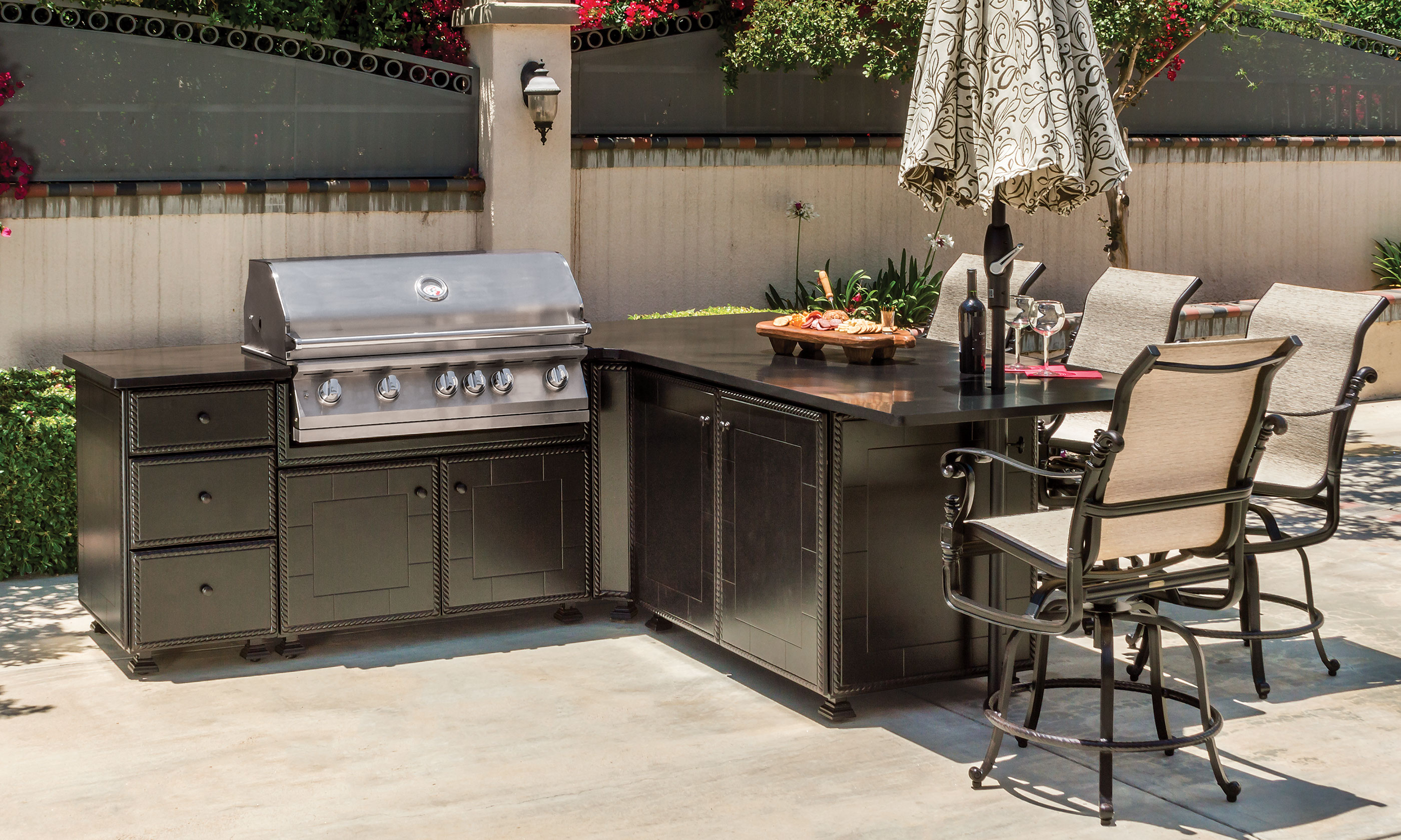 Kitchen Island Grill outdoor kitchens > kitchen islands > grill & seating l-shape